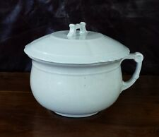 IRONSTONE CHINA CHAMBER POT W&E CORN BEAUTIFUL