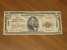 1929 Type 2 $5 National Bank Note - City Nb Council Bluffs Iowa Ch #9306