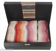 MISSONI HOME SET 2 ASCIUGAMANI COTONE CINIGLIA - 2 TOWELS SET VELOUR MORGAN 156
