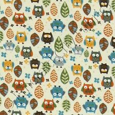 Timeless Treasures Mini Owls Cream Baby Quilting Quilt Cotton Fabric by the Yard