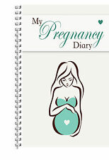 NEW A5 PERSONALISED BABY BOY GIRL MUM TO BE PREGNANCY DIARY PLANNER JOURNAL GIFT