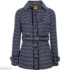 NWT Tory Burch Texture Cotton Trench Coat Size 10