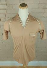 NOS Deadstock 70s Polyester Van Heusen Polo Surf Disco Retro Mod Shirt M