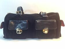 gorgeous MAXX NEW YORK black leather & suede wide tote