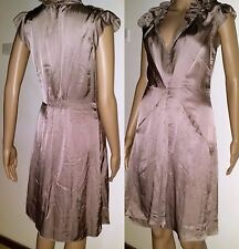 WITCHERY Size 8 Brown Silk Style Cocktail Dress rrp. $149.95