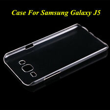 Crystal Clear Glossy Transparent Hard Plastic Case Cover For Samsung Galaxy J5