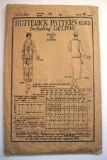 1920's Women Belted Bathrobe pattern size 36 Bust Deltor 6365