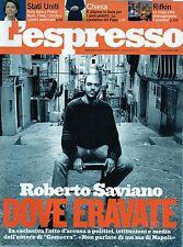 L'Espresso.Roberto Saviano,Maurizio Poliini,Dave Eggers,Long Blondes,jjj