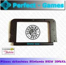 Coque haut faceplate screen middle housing shell noir black nintendo NEW 3DS XL