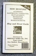 1986 NEW BEDFORD Acushnet DARTMOUTH Fairhaven STREET GUIDE Map DIRECTORY Mass MA