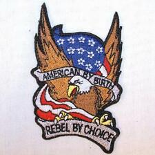 AMERICAN BY BIRTH EAGLE EMBROIDERED PATCH P320  Ironon biker JACKET patches NEW