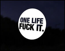 One Life Badge Land Rover 90 110 Freelander Discovery 4x4 Vinyl Sticker Graphic