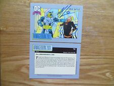 1991 DC COSMIC ARMAGEDDON 2001 CARD # 164 SIGNED ART THIBERT, WITH POA