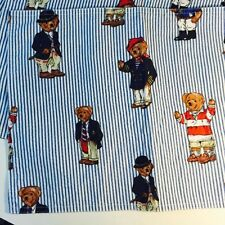 Polo Bear Placemats Lot of 3 Ralph Lauren Blue Stripe Riding Yacht Rugby Preppy