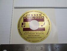 """Jensen """"Special Design"""" woofer Loudspeaker Horn Driver  """"DECAL"""" New!"""