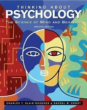 THINKING ABOUT Psychology - RANDAL M. ERNST, (HARDCOVER) 2nd ed