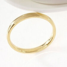4mm Band Ring Polished Wedding Women Stainless Steel Size 11 Engagement Party