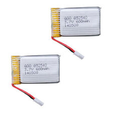 2X 3.7V 600mAh Lipo Battery Part for SYMA X5C Quadcopter Aircraft Drone Wltoys