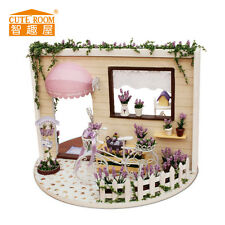 DIY Handcraft Miniature Project 360° Rotating My Rose Garden Wooden Dolls House