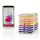 TPU Case Clear Cover Soft Gel Silicone Hybrid Impact Kickstand For LG G2 G3