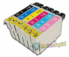 6 T0791-T0796 'Owl' Ink Cartridges Compatible Non-OEM with Epson Stylus PX700W