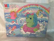Vintage MB My Little Pony Baby Sea Ponies 24 Pc Puzzle #4569-4 1985 COMPLETE