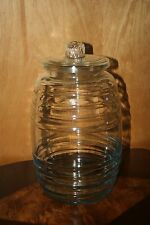 Vintage Large Pickle Jar Krisp Store Counter Top With Glass Top 3 1/2 Gallon
