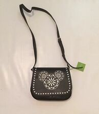 BNWT Disney Parks Vera Bradley Bag Laser Cut Mickey Mouse Crossbody Purse Black
