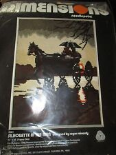 ROGER REINARDY Vintage SILHOUETTE IN THE RAIN Needlepoint KIT-1970's