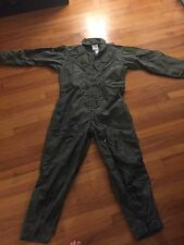 US Military Navy Flyer Coveralls Zip Front Flight Suit Sage Green CWU-27P 46r