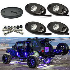 4X Blue Cree LED Car JEEP ATV Off-Road under glow Underbody Nenon Wheel Light