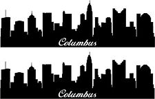 Columbus Ohio Skyline Wall Sticker Decal Stickers Wall Art 2 piece set