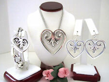 "Brighton ""PALACE HEART"" Necklace-Earring-Bracelet Set (MSR$178) NWT/Pouch"