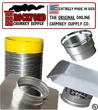 6 in. x 15 ft. Smooth Wall Flex Chimney Liner Insert Kit 2Ply .013 316 Stainless
