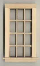 Window - Traditional 6/6 - 405A wooden dollhouse miniature 1:12 scale USA made