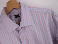 M497 PAUL SMITH JEANS SHIRT TOP ORIGINAL PREMIUM MADE IN ITALY STRIPED size 16.5