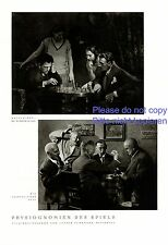 Physiognomy of the game 1 page photo images 1931 chess playing cards +
