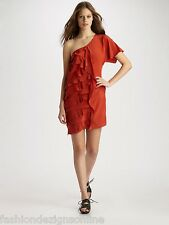 Brand New With Tags   SACHIN & BABI   'Francis Ruffled Crepe De Chine Dress'   -