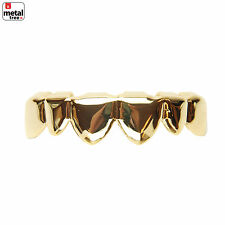 Hip Hop Iced Out Plain Grillz 14k IP Gold Plated Upper Top Grillz Teeth L056 G