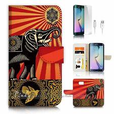 Samsung Galaxy ( S7 Edge ) Flip Wallet Case Cover P0246 India Elephant