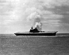 New 8x10 World War II Photo: Sinking of the USS YORKTOWN after Battle of Midway