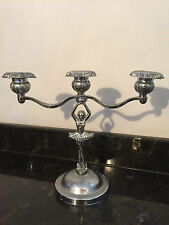Art Deco Dancer Ballerina Chrome Three Arm Swivel Candle Stick Holder Rd 874838