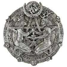 Great Rite Pentacle Plaque - Silver Finish - Dryad Design - Pagan Wiccan Wicca