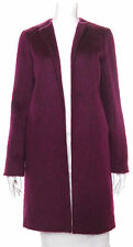 French Connection Magenta Purple Fuzzy Hairy Wool Draped Open Car Coat S 2/4