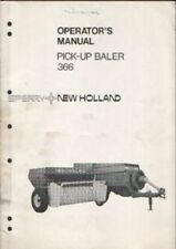 New Holland Baler 366 Operators Manual