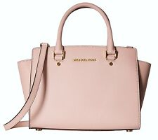 MICHAEL KORS LEATHER BAG/BAG SELMA MD TZ SATCHEL Saffiano blossom
