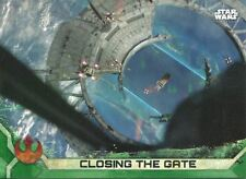 Star Wars Rogue One Series 2 Green Base Card #62 Closing the Gate