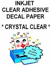 INKJET Crystal Clear Gloss Adhesive Polyester Decal Paper - 10 Sheets