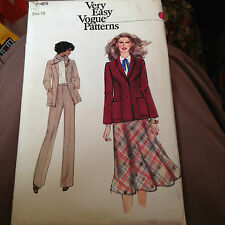 VOGUE 7185  LADIES SIZE 18  PANTS SKIRT AND JACKET
