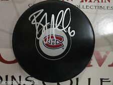 Bryan Allen Montreal Canadiens Signed Game Logo Puck LOM ba2
